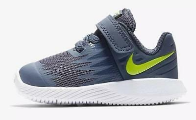 0c337566ed88 Boys Toddler NIKE STAR RUNNER Adjustable Blue Athletic Sneakers Shoes NEW