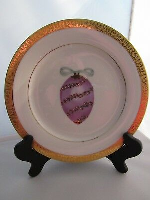 Gold Buffet Royal Gallery Lilac Faberge Egg Luncheon/Salad Plate – New