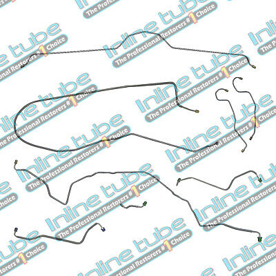 70-73 Chevrolet Corvette MANUAL Disc Complete Brake Line Kit Set 8pc STAINLESS