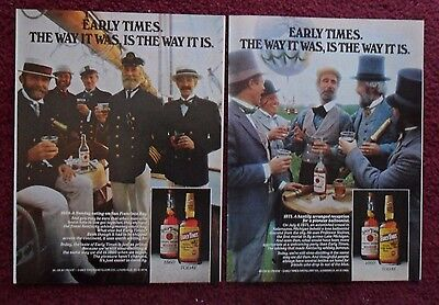 Lot of 20 Diff EARLY TIMES Kentucky Bourbon Whiskey Print Ads ~ Tom Cat Sunset +