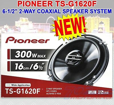 "Pioneer Ts-G1620F 6.5"" Car Audio Coaxial 2-Way Speakers Pair 300W Max Brand New"