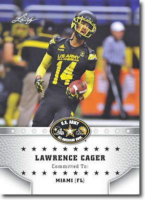 """Lawrence Cager 2015 Leaf """"1St Ever Printed"""" High School Army Rookie Card!"""