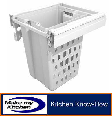 Soft Close Pull Out Laundry Basket 50 litres - For 500mm Unit