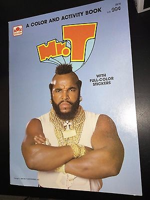 A-Team Mr. T Color & Activity Book 1984 w/ stickers Old New Stock Unused golden