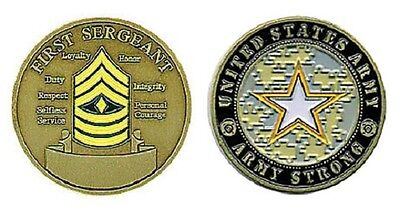 US Army First Sergeant E-8 Rank Challenge Coin
