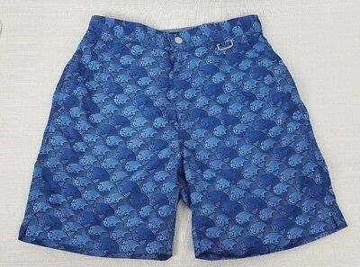 d5328e1c42 New Peter Millar Collection Blue Wave Swim Trunks Shorts Bathing Suit Size  Small
