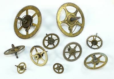 Antique Clock Wheels, Gears, & Cogs - Great For Steampunk Artwork! Wh30