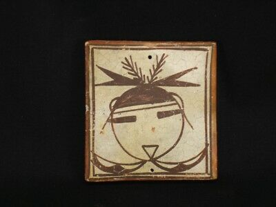 An Early Hopi Pottery Figured Tile, Southwest Native American Indian, c.1910