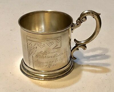Rare Vintage Antique 1939 Russian Silver 875 Glass Holder Podstakannik 72gr Old