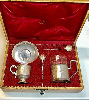 Genuine Russian Imperial 84 Silver 6pc Set ANDREYEV/ AKIMOV Original Box
