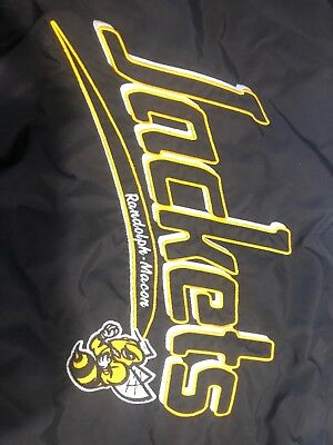 Randolph macon college embroidered vintage pull over!