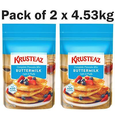 Krusteaz Buttermilk Complete Pancake Mix Just Add Water Large Big Pack of 2 Bags