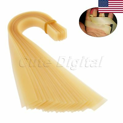 Durable Golden Flat Rubber Band For Slingshot Catapult Replace Accessory 20pcs