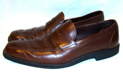 89843b0d77b ALLEN EDMONDS Men s Shoes GEORGETOWN Brown Leather Penny Loafers MADE IN  USA 9 B