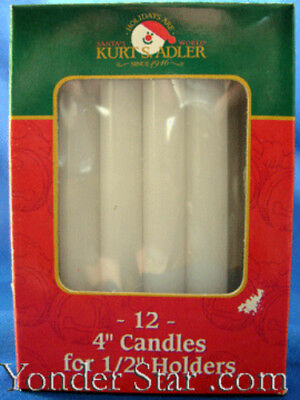 Replacement candles for Angel Carousel Chimes Christmas Spinner Swedish 12 pk