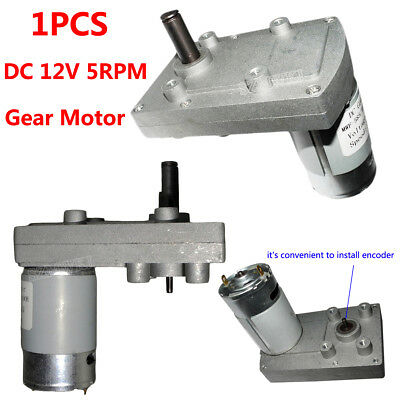 DC 12V Powerful High Torque Low Noise Electric DC Gear Box Motor Speed Reduction