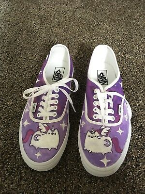 cb419fe1a67f7c Hand Painted Easy Pusheen VANS Shoes