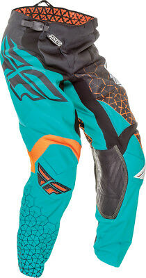 Fly Racing Mens & Youth Black/Teal Trifecta Kinetic Dirt Bike Pants MX ATV 2016