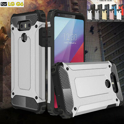 Hybrid Phone Shell Shockproof Heavy Duty Rugged Armor Case Cover For LG G6 + G7