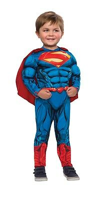 Superman Muscle Chest Toddler 2T Halloween Costume Rubie's