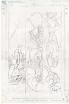 Two Pages KEVIN MAGUIRE Original Art PENCIL The Adventures of CAPTAIN AMERICA