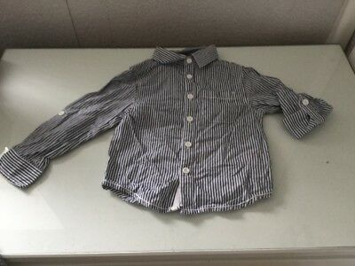 Mini Rebel 18-24 Month Shirt Baby Boy Striped Very Good Used Condition