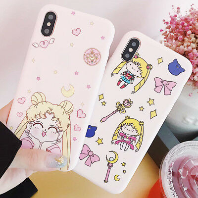 Sailor Moon Silicone Cartoon TPU Case Cover For iPhone X 8 7 6s Plus XS Max XR