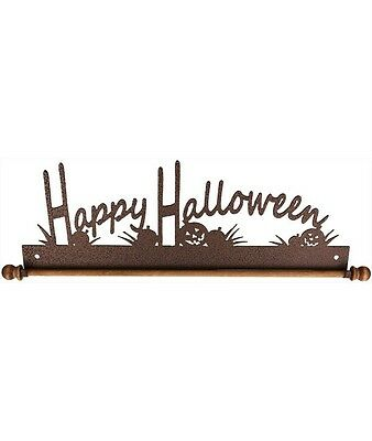 Ackfeld 30.5cm Happy Halloween Metal Pared Manualidades Edredón Textil Soporte