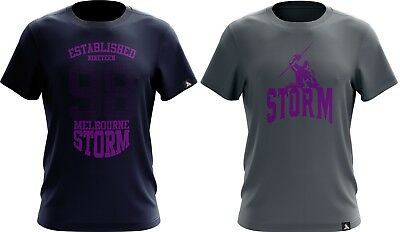 Melbourne Storm NRL 2018 Twin T Shirts Adult Sizes S-5XL!