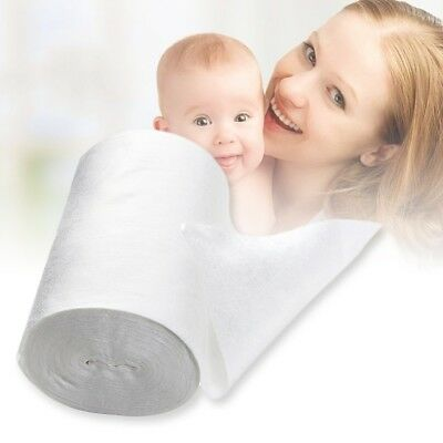 Baby Flushable Disposable Cloth Nappy Diaper Bamboo Liners 100 Sheets 1 Roll NJ