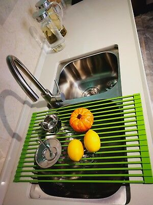 LEASEN OVER SINK Silicone Roll-up Dish Drying Rack Dish