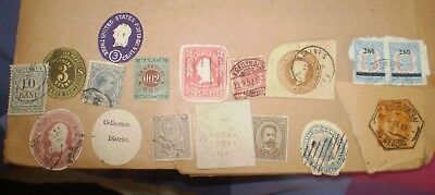 Various non-GB postal stationery cut-outs