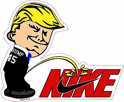 Trump Pee On NIKE Colin Kaepernick Sport Spoof Funny Sticker Decal