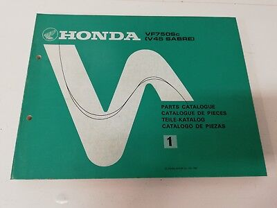 Manual manuale spaccato ricambi spare parts ita ing HONDA VF 750 SC V45 SABRE