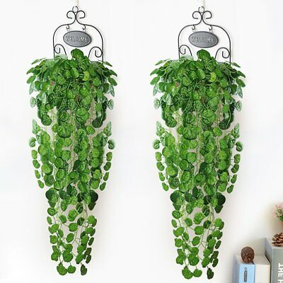 1PCs Artificial Trailing Leaf Garland Plants Foliage Hanging Home Office Outdoor