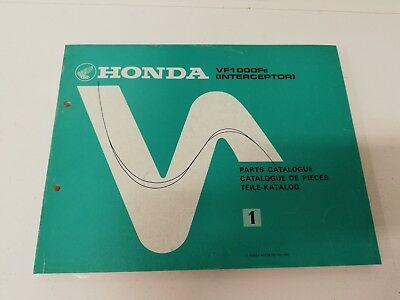 Manual manuale spaccato ricambi spare parts ita ing HONDA VF 1000 FE INTERCEPTOR