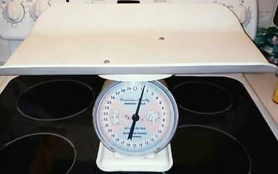 Vintage/Antique 1950's Metal Baby Scale Weighs Up To 30lbs  *In Working Cond.*