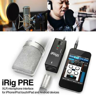 IK Multimedia iRig Pre Mic Interface for iPhone/iPod touch/iPad Android Devices