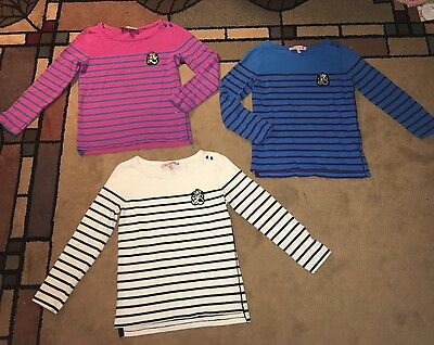 Juicy Couture Girls Long-Sleeved Shirts, Size 8-10, Striped, Lot of 3, Some New