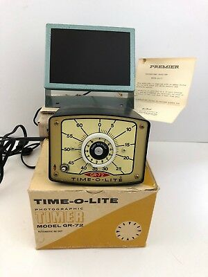 Vintage ITC Time-O-Light Timer, Working, With Darkroom Safelight, Original Boxes
