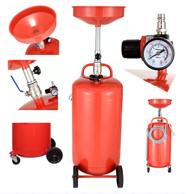90L 28GALLONS Portable Air Pneumatic Waste Oil Extractor Drainer Tank Pan Garage