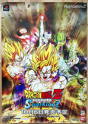 Dragonball Z Sparking! RARE SONY PS2 51.5 cm x 73 cm Japanese Promotional Poster
