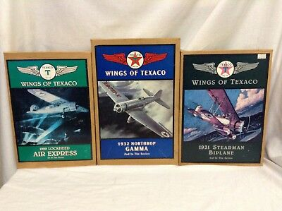 Lot of 3 Wings Of Texaco Diecast planes 1st, 2nd, 3rd in series