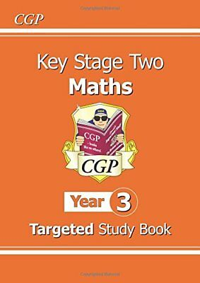 KS2 Maths Targeted Study Book - Year 3 CGP KS2  by CGP Books New Paperback Book