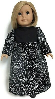 Halloween Black Spiderweb Long Dress for 18 inch American Girl Doll Clothes