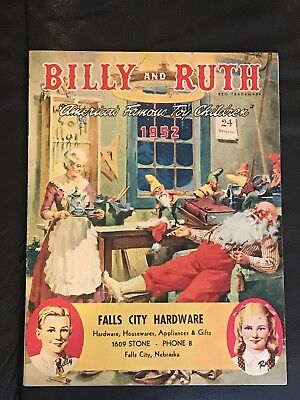 1952 Billy And Ruth Christmas Toy Catalog Great Graphics Santa Cover Near Mint