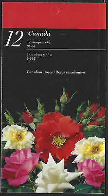 """2001 Canada SC#1914a """"Roses"""" 0.47¢ - Booklet of 12 stamps MNH"""