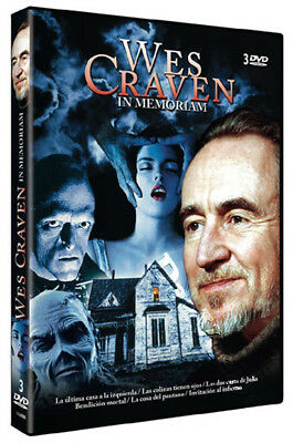 Wes Craven In Memoriam Collection (6 Films) NEW PAL Classic 3-DVD Set S. Stone