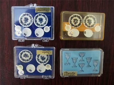 """6 Place Settings of Chrysnbon Dollhouse Miniature Dishes Tableware  1:12"""" scale"""