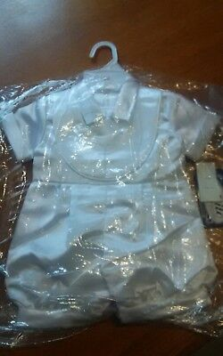 New with tags Boys Christening  Outfit with Bonnet Size extra small